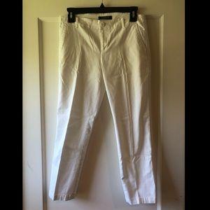 Ralph Lauren White Ankle Pants